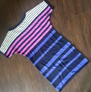 LOFT Dresses - LOFT Color Block/Stripe Wool Sweater Dress Sz Sm